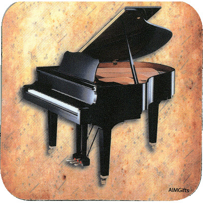 coaster with piano on it