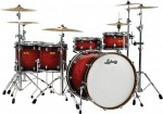 Red Drum set with cymbals